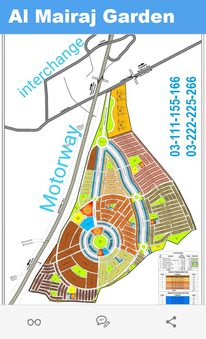 Al Mairaj Garden Islamabad   Marla plot for sale by Alam Enterprises