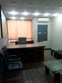 furnished office is available on rent