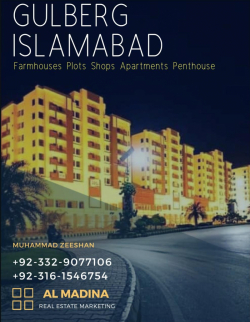 1kanal plot for sale in Gulberg Residencia